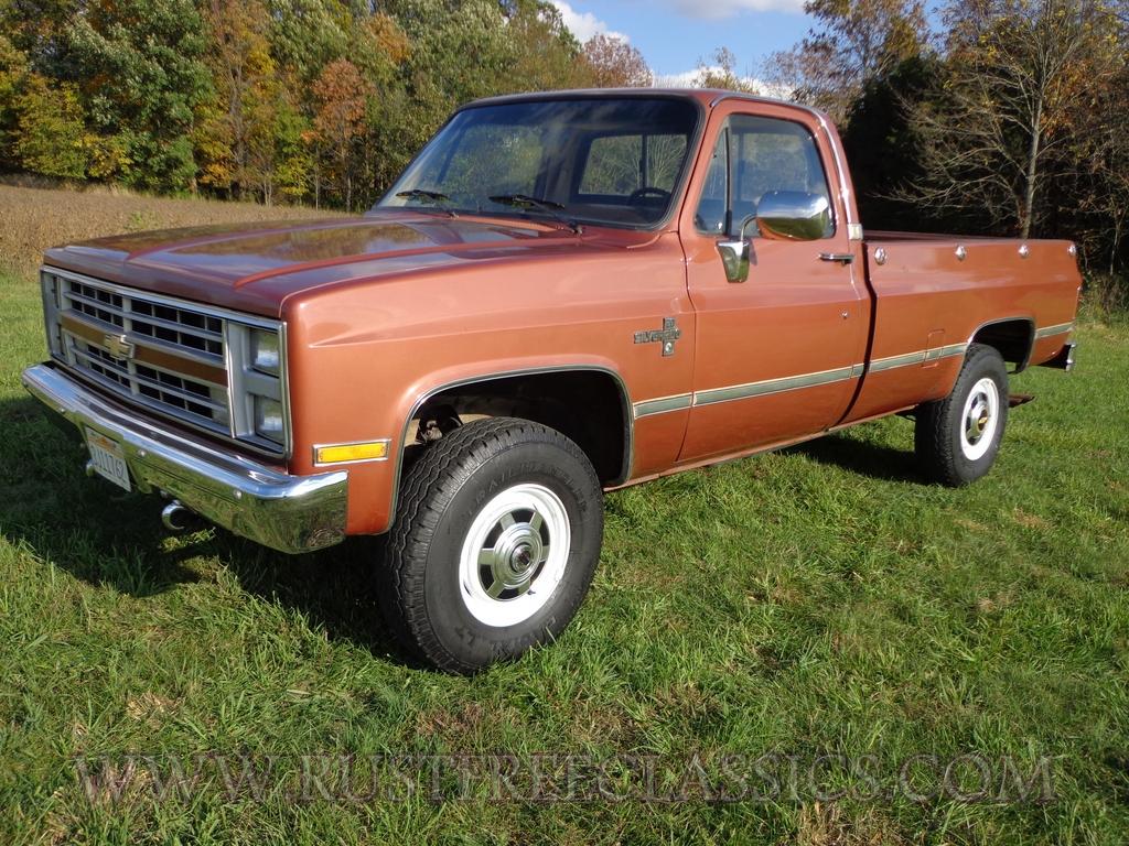 All Chevy 87 chevy diesel : 1987 87 Chevy Chevrolet Silverado K20 V20 Copper 91k survivor